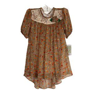 Bonnie Jean Fall Dress Floral and Gorgeous